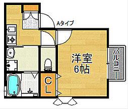 セジュールTanigami[2階]の間取り