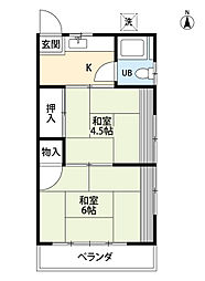 杉崎アパート[2階]の間取り