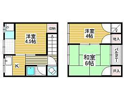 [テラスハウス] 大阪府堺市堺区南三国ヶ丘町4丁 の賃貸【/】の間取り