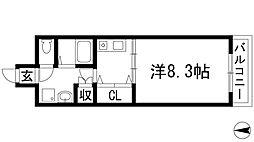 ルミエール千僧[1階]の間取り