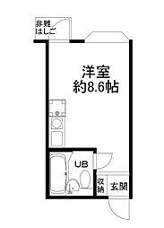 サンヴィラ六甲道パートII[3階]の間取り