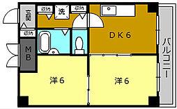ボン・シェール堺[10階]の間取り