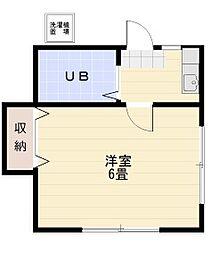 若葉富士見アパート[203号室]の間取り