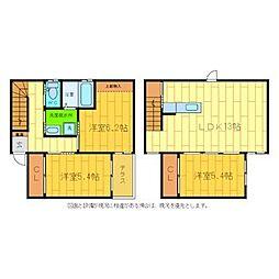 [タウンハウス] 徳島県徳島市川内町加賀須野 の賃貸【/】の間取り