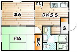 ディアス白石[1階]の間取り