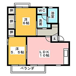 VALUGE勝川 C棟[2階]の間取り