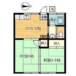 斎藤荘[202号室]の間取り
