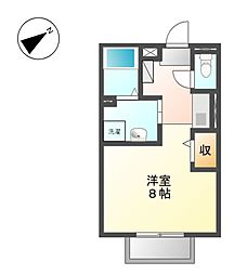 愛知県名古屋市東区筒井1丁目の賃貸アパートの間取り