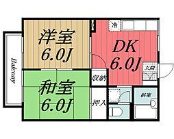 千葉県佐倉市新臼井田の賃貸アパートの間取り