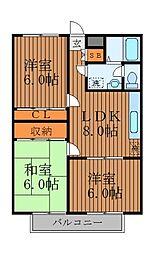 井荻ファースト[3階]の間取り