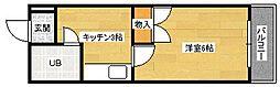広島県広島市安佐南区長束3丁目の賃貸マンションの間取り