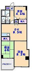 フロントアイランドハイツ[2階]の間取り