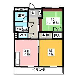 桜ハイツ[3階]の間取り