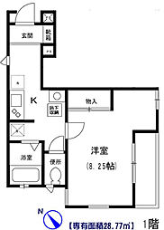 Comfortable bt[101kk号室]の間取り