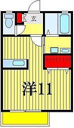 EXCEL COURT[1階]の間取り