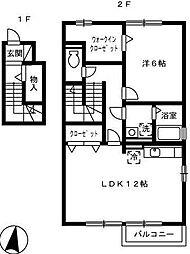 ルーチェ1[205号室]の間取り