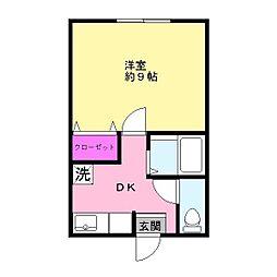 マンション市原姉崎中央[202号室]の間取り