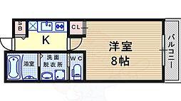 阪急神戸本線 塚口駅 徒歩4分の賃貸マンション 4階1Kの間取り