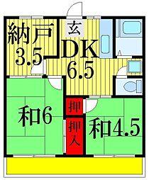 林コーポ七林[2階]の間取り