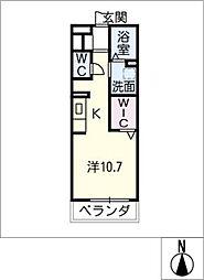 セジュール昭和[1階]の間取り