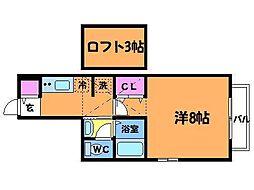 東京都調布市調布ヶ丘4丁目の賃貸アパートの間取り
