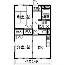 アパートメント村田[302号室]の間取り