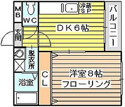 クレア1[4階]の間取り