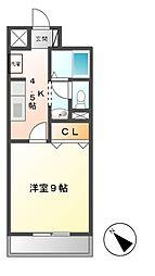 パレドールKonishi[4階]の間取り