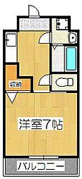滋賀県大津市桜野町1丁目の賃貸アパートの間取り