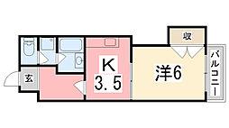 ハイツA&M[406号室]の間取り