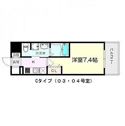 インベスト塚口S−FRONT[10階]の間取り
