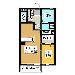 KM(ケープラスエム)[2階]の間取り