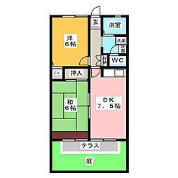 ルミエール B棟[1階]の間取り