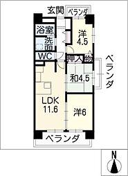 横山マンション[7階]の間取り