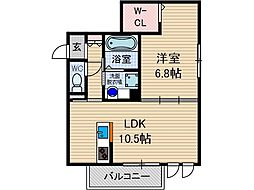 Lumiere太田[1階]の間取り