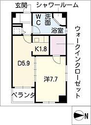 レインボーピア原[8階]の間取り