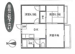 神奈川県横浜市戸塚区平戸4丁目の賃貸アパートの間取り