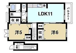 ガーデンハウスMU B棟[2階]の間取り