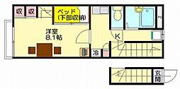 レオパレス花水樹SUE[2階]の間取り