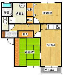 メイプルハウスA棟[2階]の間取り