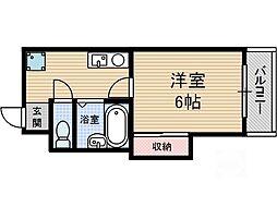中村10番館[4階]の間取り