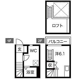 Fect Rays[2階]の間取り