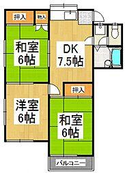 トーマコーポ3号棟[2階]の間取り