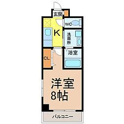 愛知県名古屋市熱田区野立町1の賃貸マンションの間取り