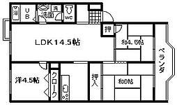 第三亀井マンション[113号室]の間取り