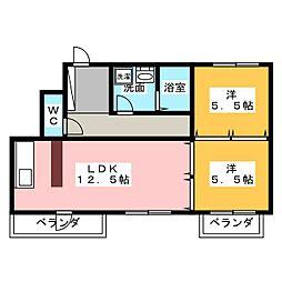 バウハウス[5階]の間取り