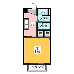 サープラスラーム ふじ[2階]の間取り