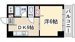 Osaka Metro御堂筋線 新大阪駅 徒歩8分の賃貸マンション 2階1DKの間取り