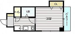 コーポ倉本[3階]の間取り