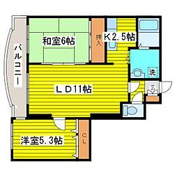 北海道札幌市東区北九条東8丁目の賃貸マンションの間取り
